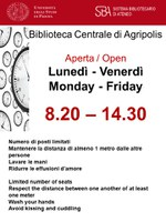 APERTURA DELLA BIBLIOTECA DAL 4 MARZO / THE LIBRARY OPENS FROM 4th MARCH